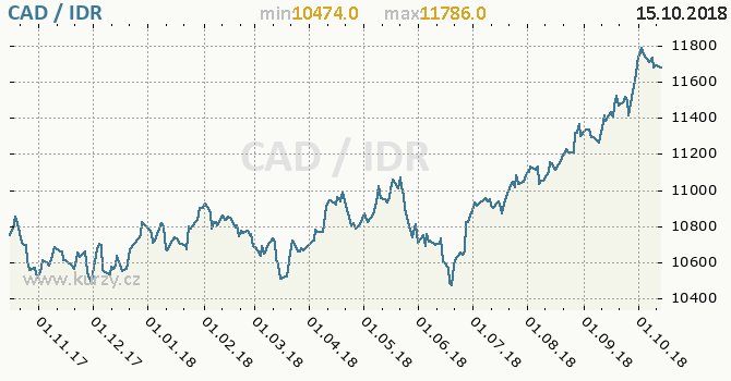 Vývoj kurzu CAD/IDR - graf