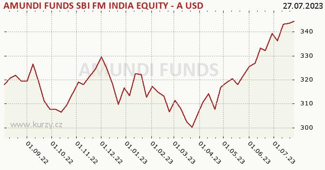 Graf kurzu (ČOJ/PL) Amundi Funds Equity India (USD)