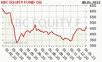 Graph rate (NAV/PC) KBC EQUITY FUND OIL